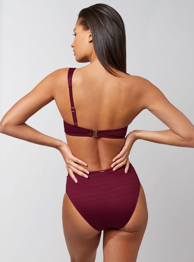 Capri one shoulder bikini top