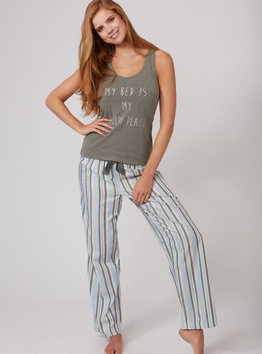 Happy place vest and pants pyjama set