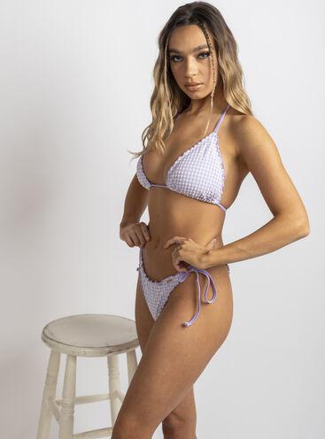 Paros check string side bikini briefs