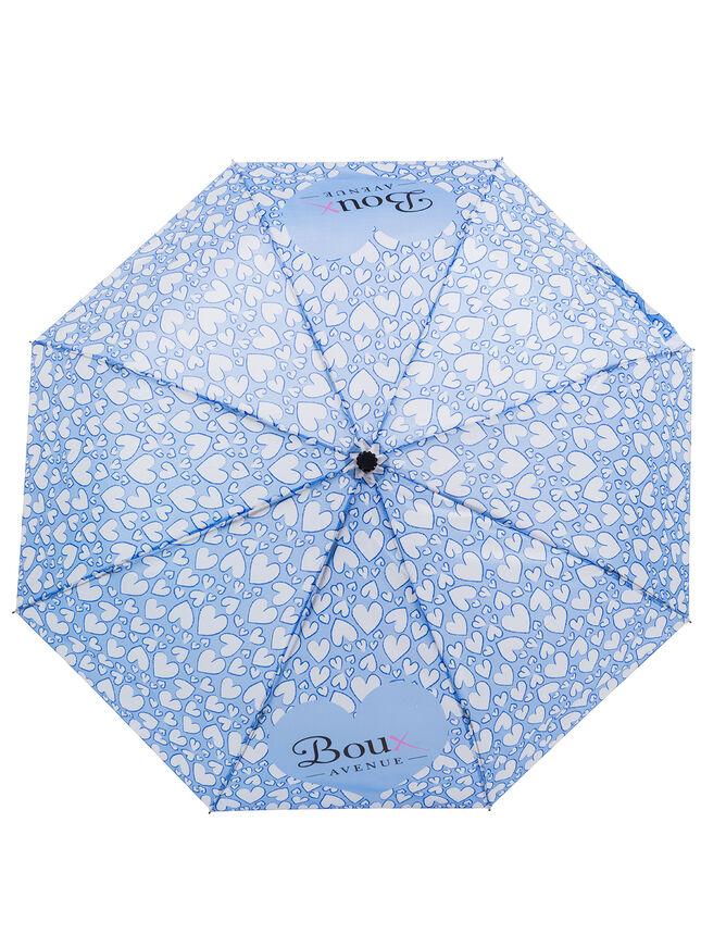 Heart print umbrella