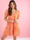Sofia daisy tiered smock dress