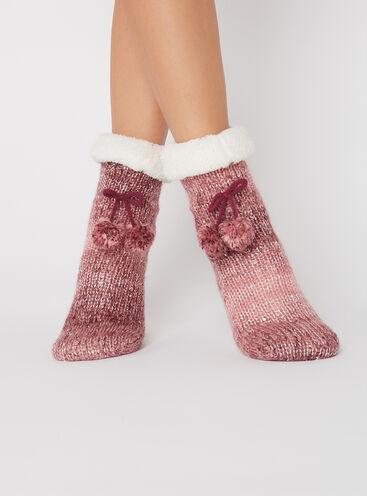 Chunky sequin socks