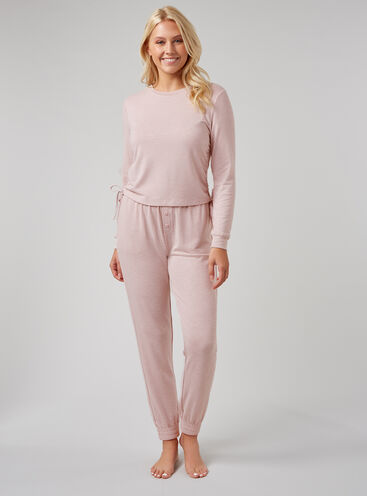 Lounge ruched top and joggers set