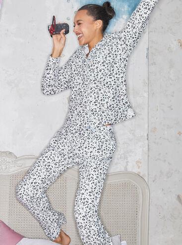 Snow leopard matching pyjamas in a bag