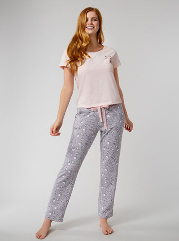 Peekaboo cat pyjama set