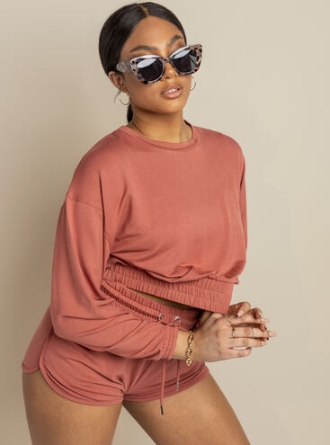 Mila lounge crew neck top