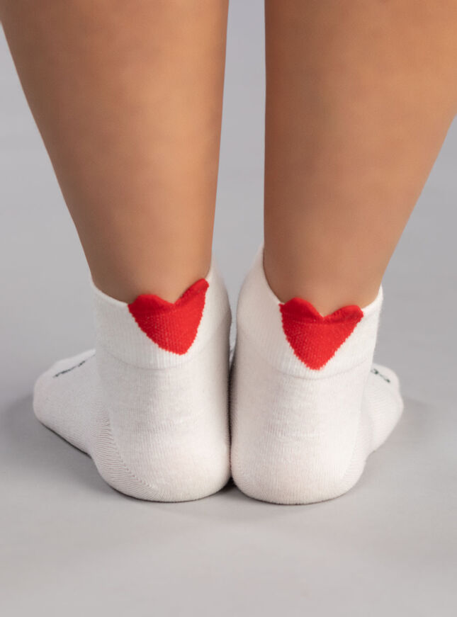 3 pack heart trainer sock