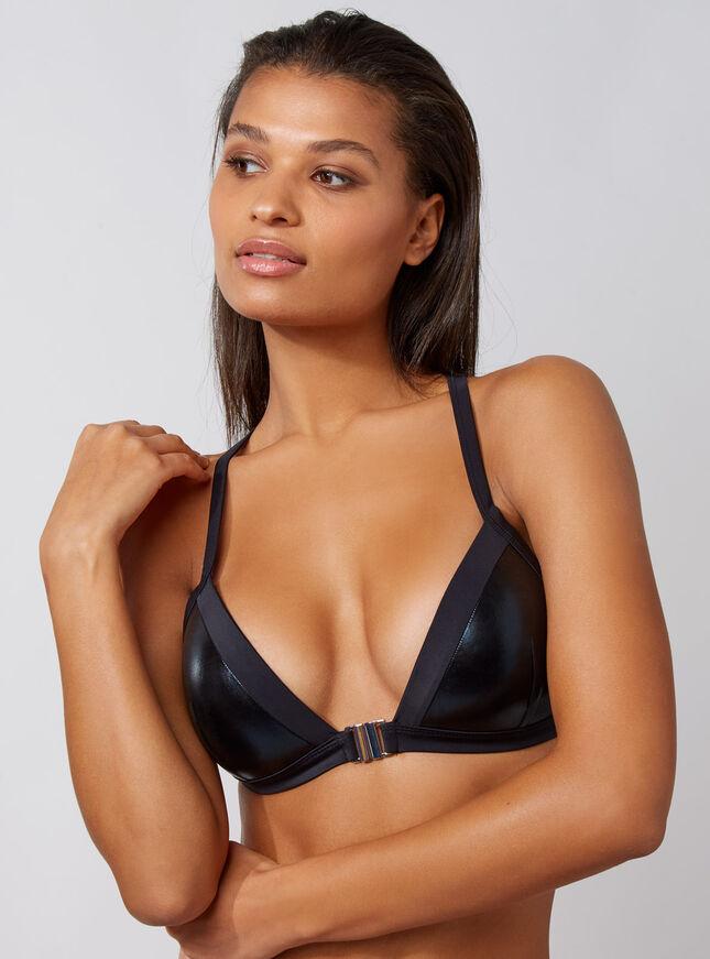 Crete macrame triangle bikini top