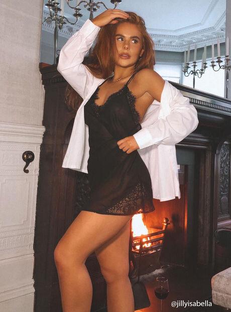 Chiffon and lace chemise