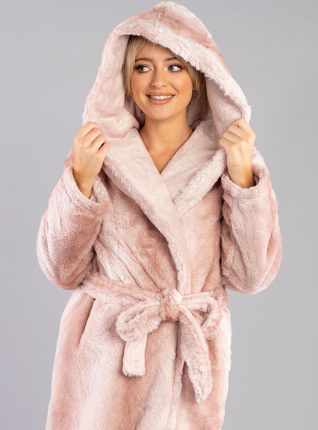 Ombre fur dressing gown
