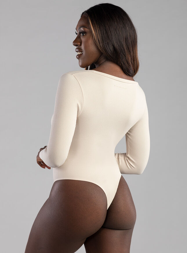 Rib long sleeve seamless body