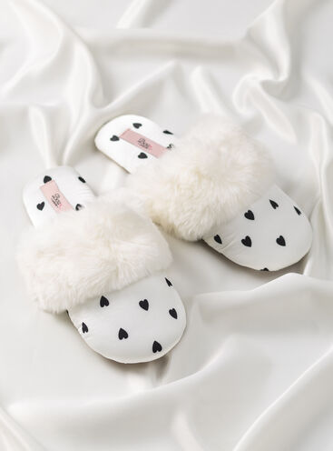Heart slippers in a bag
