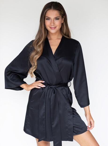 Abella spot jacquard robe