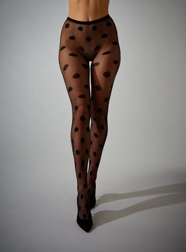 Spot fishnet tights