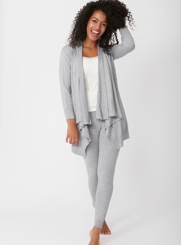 Cashmere blend waterfall cardigan