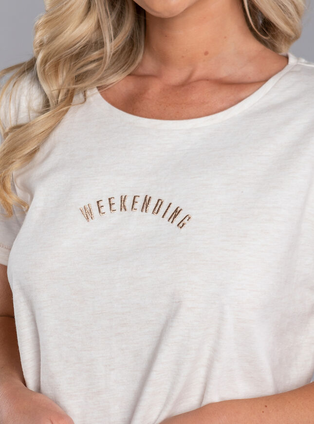 Weekending slogan tee & short