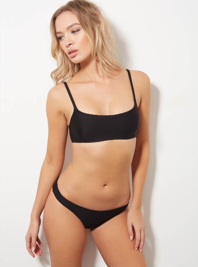 22a120896e Ribbed crop bikini top. Model wears size 10