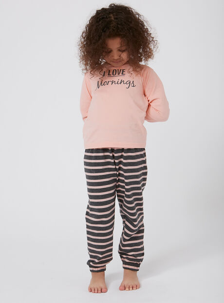 "Girls ""I love mornings"" pyjama set"