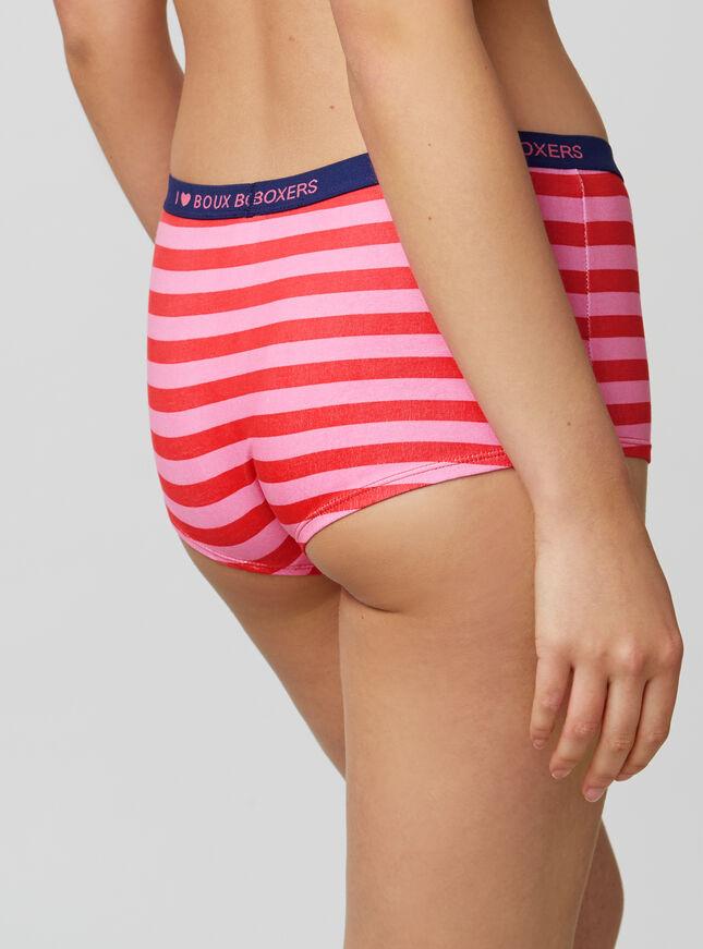 Stripe Boy Shorts by Bouxavenue