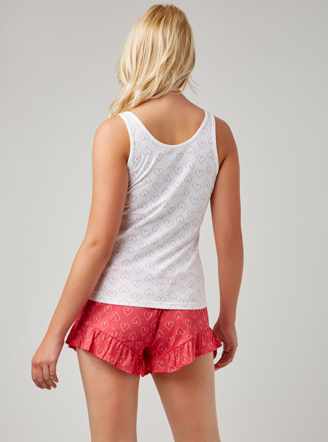 Reverse heart pyjama set