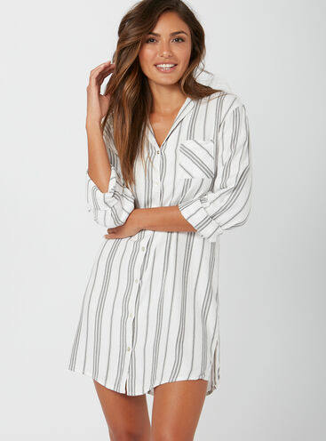 Mono stripe nightshirt