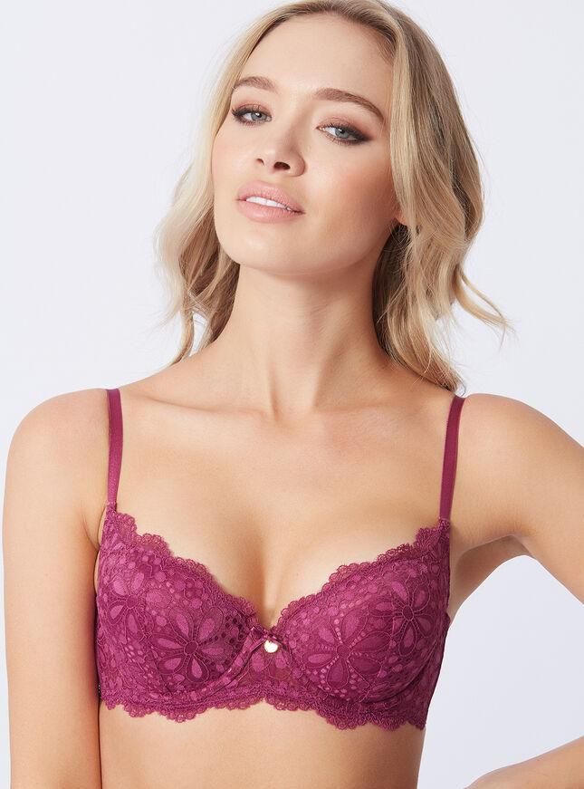 Lauren padded balconette bra