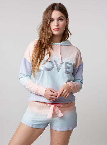 """""""Choose to love"""" ombre hoody and shorts set"""