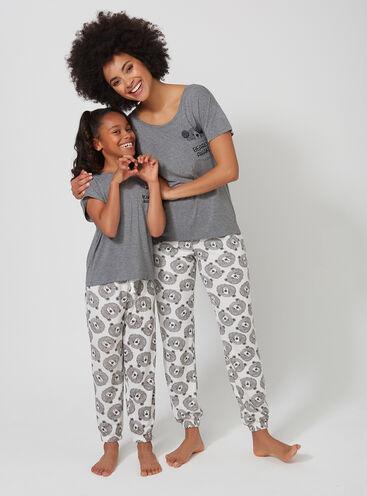 Peekaboo bear family pyjama set