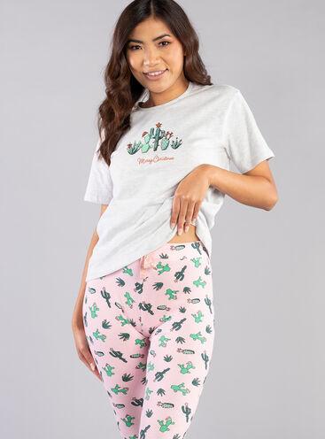 Xmas cactus tee and legging