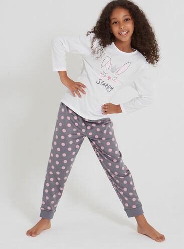 Girls bunny pyjama set