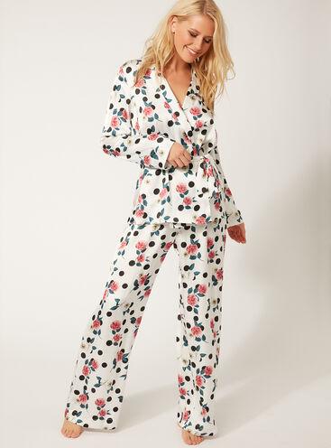 Bubbles floral wrap pyjama set