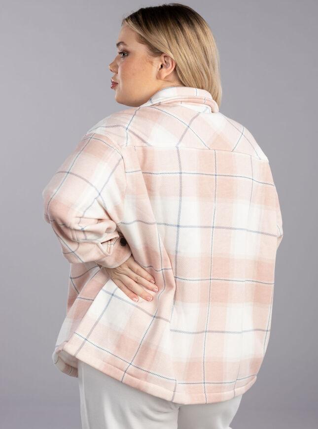 Check fleece shirt