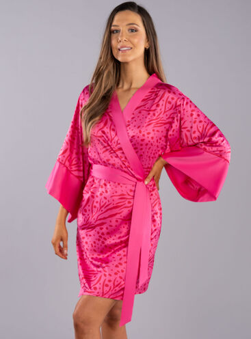 Animal print robe