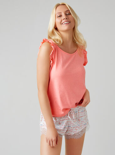 Dream with me frill top and shorts set