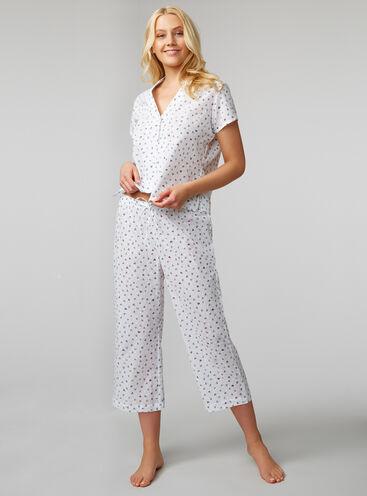 Heart dobby crop pyjama set