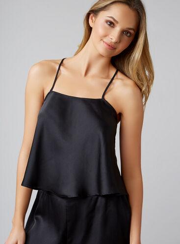 Textured satin swing camisole