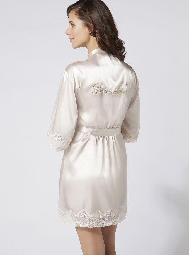 """Bride's mother"" satin robe"