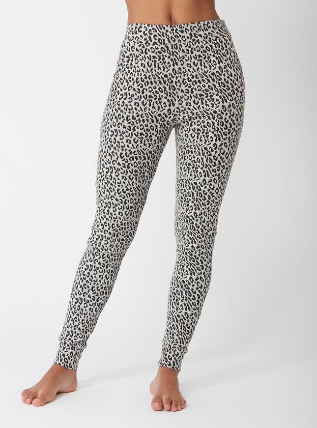 Leopard jacquard joggers