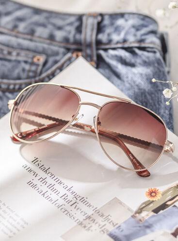 Pearl aviator sunglasses