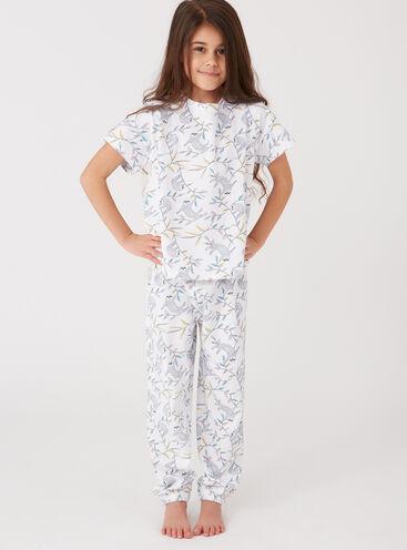 Girls sloth print pyjama set