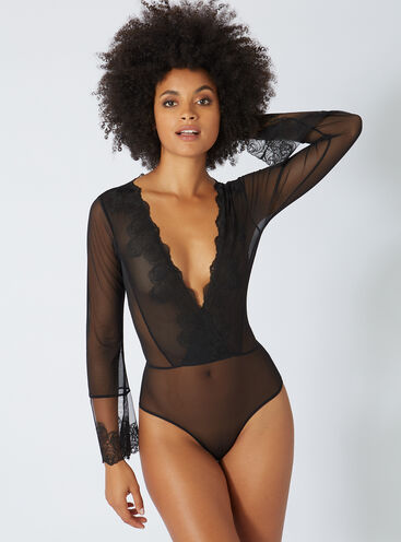 Cass embroidered mesh body