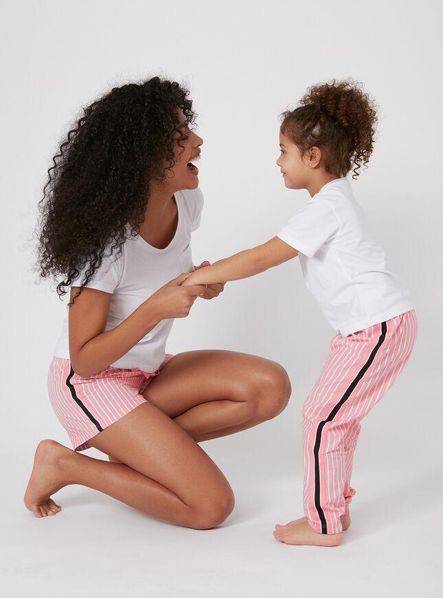 Girls stripe tape pyjama set