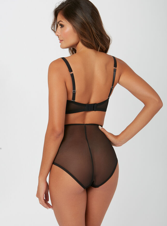 Esther satin high-waisted briefs