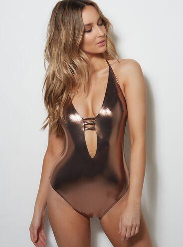 Cabaret metallic swimsuit