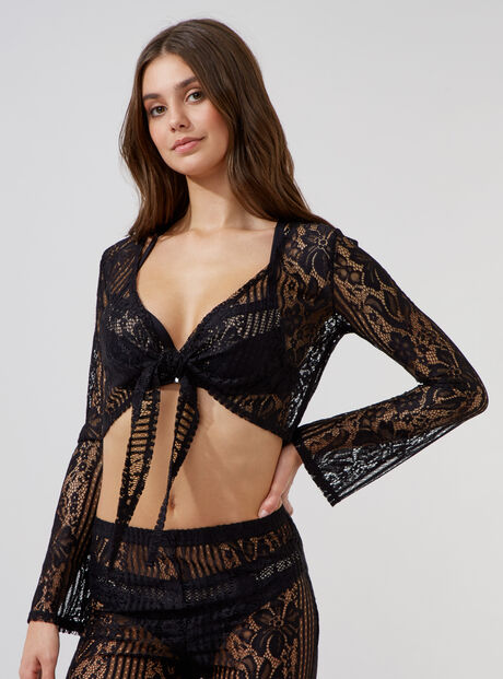 Lace beach top
