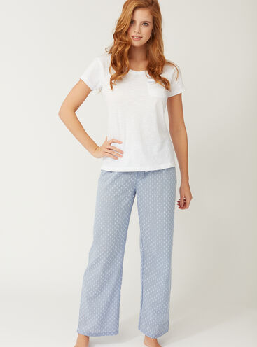 Tee and dobby pants pyjama set