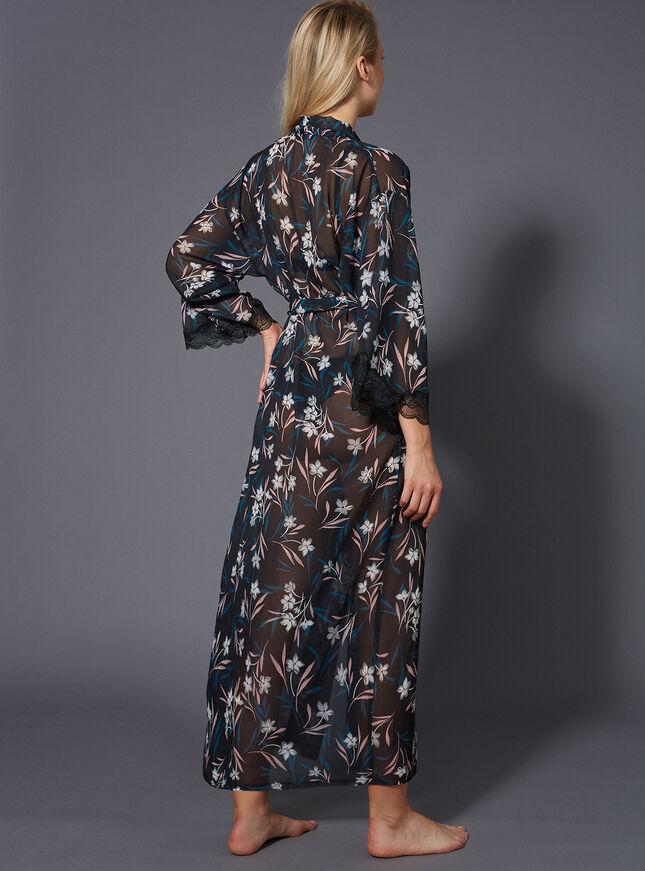 Sienna long chiffon robe