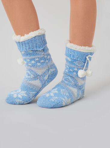 Fairisle slipper socks