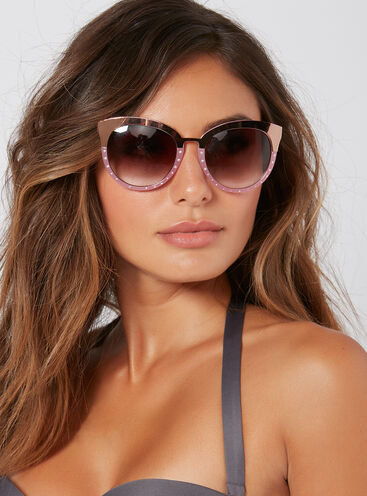 Diamante detail sunglasses