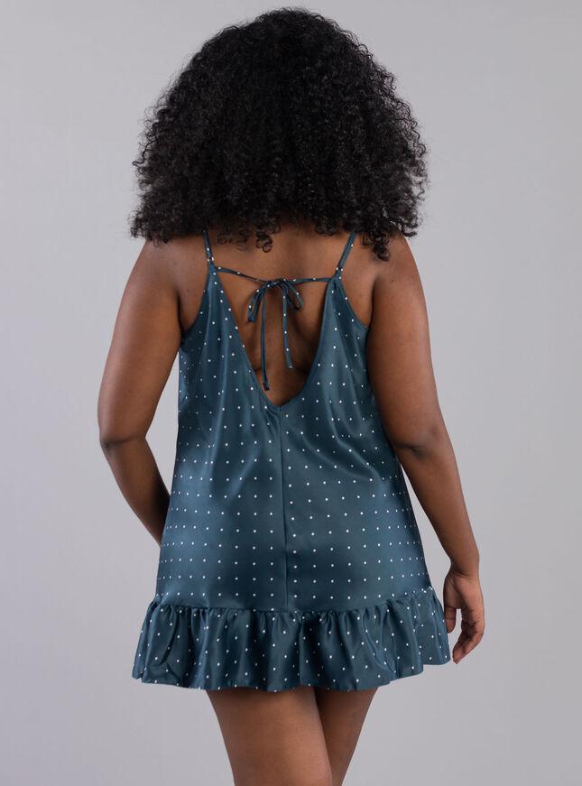 Mini spot frill chemise